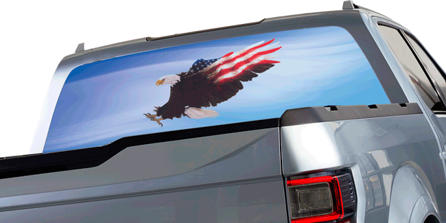 Home - Back window decals for trucks